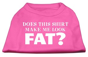 Does This Shirt Make Me Look Fat? Screen Printed Shirt Bright Pink XXL (18)