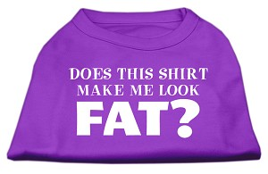 Does This Shirt Make Me Look Fat? Screen Printed Shirt Purple XXL (18)