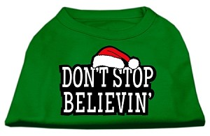 Don't Stop Believin' Screenprint Shirts Emerald Green Lg (14)
