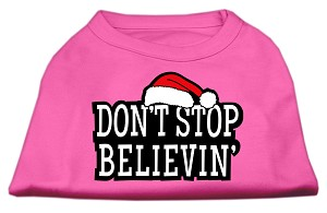 Don't Stop Believin' Screenprint Shirts Bright Pink XS (8)