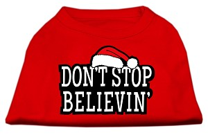 Don't Stop Believin' Screenprint Shirts Red XXXL (20)