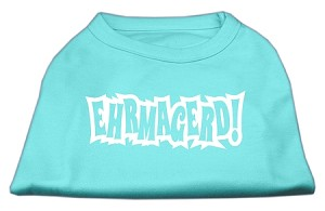 Ehrmagerd Screen Print Shirt Aqua XS (8)