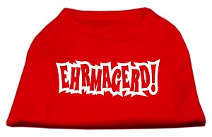 Ehrmagerd Screen Print Shirt Red Med (12)