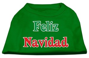Feliz Navidad Screen Print Shirts Emerald Green XS (8)