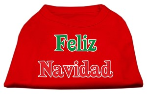 Feliz Navidad Screen Print Shirts Red XXXL(20)