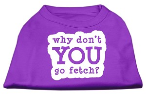 You Go Fetch Screen Print Shirt Purple XXXL (20)