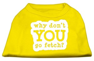 You Go Fetch Screen Print Shirt Yellow XS (8)