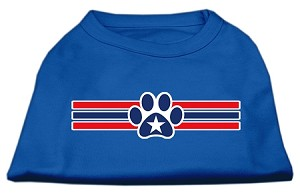 Patriotic Star Paw Screen Print Shirts Blue XXXL (20)