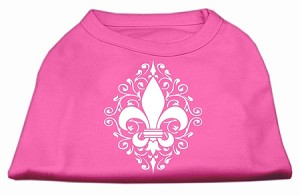 Henna Fleur De Lis Screen Print Shirt Bright Pink Sm (10)