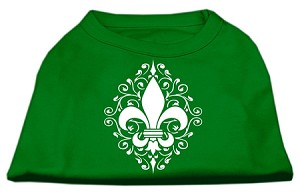 Henna Fleur de Lis Screen Print Shirt Emerald Green XS (8)