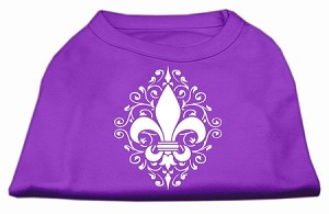 Henna Fleur De Lis Screen Print Shirt Purple XL (16)