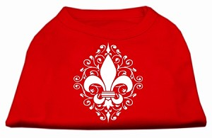 Henna Fleur De Lis Screen Print Shirt Red Sm (10)