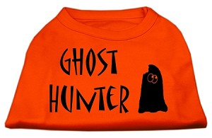 Ghost Hunter Screen Print Shirt Orange Lg (14)