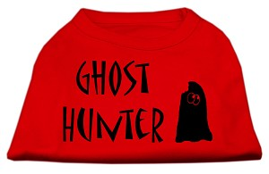 Ghost Hunter Screen Print Shirt Red with Black Lettering XL (16)