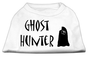 Ghost Hunter Screen Print Shirt White with Black Lettering XL (16)