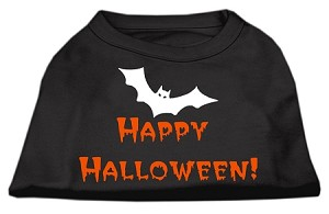 Happy Halloween Screen Print Shirts Black S (10)