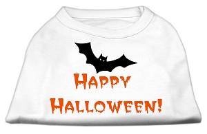 Happy Halloween Screen Print Shirts White XXXL (20)