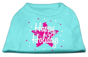 Scribble Happy Holidays Screenprint Shirts Aqua XS (8)
