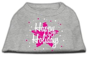 Scribble Happy Holidays Screenprint Shirts Grey XL (16)