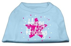 Scribble Happy Holidays Screenprint Shirts Baby Blue XS (8)