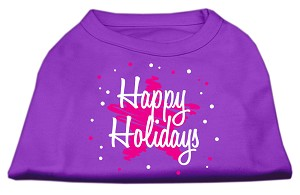 Scribble Happy Holidays Screenprint Shirts Purple XL (16)