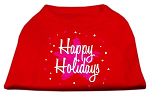 Scribble Happy Holidays Screenprint Shirts Red XS (8)
