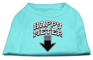 Happy Meter Screen Printed Dog Shirt Aqua Med (12)