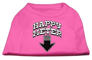Happy Meter Screen Printed Dog Shirt Bright Pink XXXL (20)