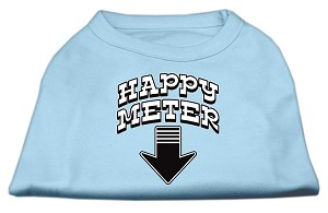 Happy Meter Screen Printed Dog Shirt Baby Blue XL (16)