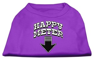 Happy Meter Screen Printed Dog Shirt Purple XL (16)