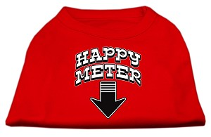 Happy Meter Screen Printed Dog Shirt Red XXL (18)