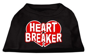 Heart Breaker Screen Print Shirt Black Sm (10)