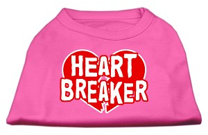 Heart Breaker Screen Print Shirt Bright Pink XL (16)