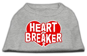 Heart Breaker Screen Print Shirt Grey XXXL (20)