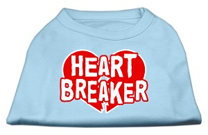 Heart Breaker Screen Print Shirt Baby Blue XL (16)