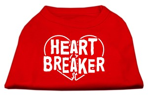 Heart Breaker Screen Print Shirt Red XXXL (20)
