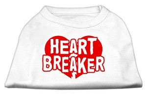 Heart Breaker Screen Print Shirt White Sm (10)