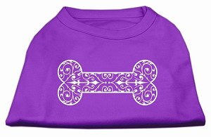 Henna Bone Screen Print Shirt Purple XXL (18)