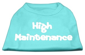 High Maintenance Screen Print Shirts Aqua S (10)