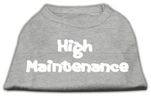 High Maintenance Screen Print Shirts Grey L (14)