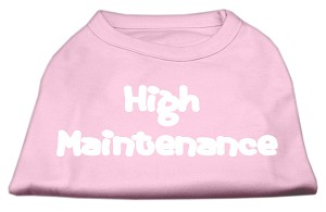 High Maintenance Screen Print Shirts Light Pink XXL (18)