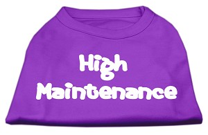 High Maintenance Screen Print Shirts Purple XL (16)