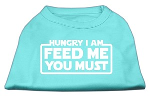 Hungry I am Screen Print Shirt Aqua XXL (18)