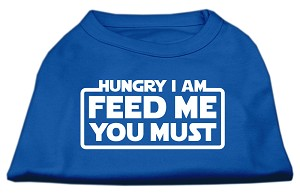 Hungry I Am Screen Print Shirt Blue Med (12)