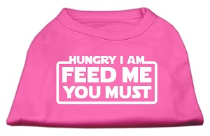 Hungry I am Screen Print Shirt Bright Pink Sm (10)