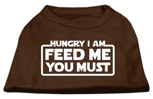 Hungry I Am Screen Print Shirt Brown XL (16)