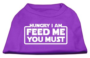 Hungry I am Screen Print Shirt Purple Sm (10)