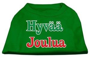 Hyvaa Joulua Screen Print Shirt Emerald Green XL (16)