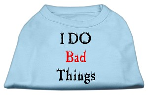 I Do Bad Things Screen Print Shirts Baby Blue S (10)