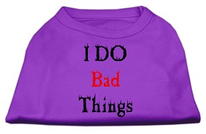 I Do Bad Things Screen Print Shirts Purple S (10)